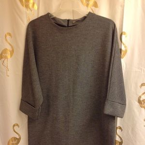 Zara Herringbone Ghost Sweater Ponte Dress M
